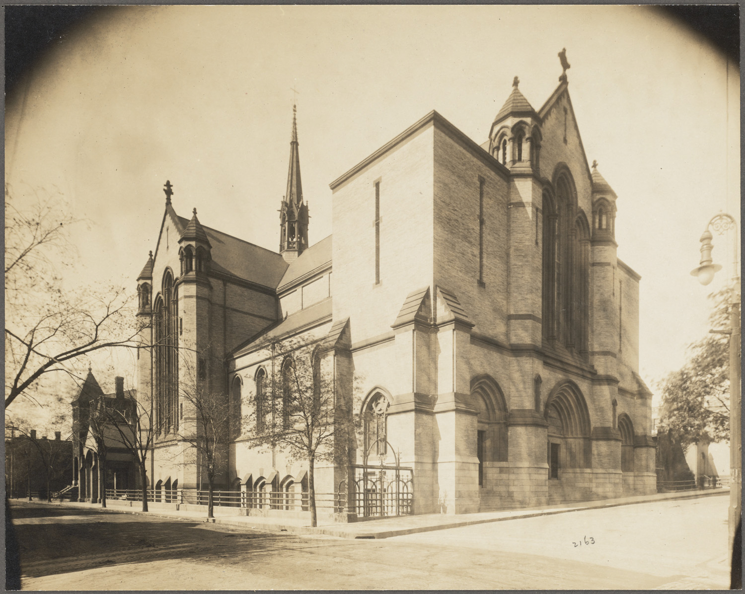 Historic photograph of South Boston's Gate of Heaven church, established in 1866.