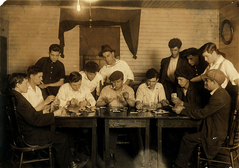 A group of young Portuguese-American mill workers in Fall River, Massachusetts in the early 20th century.